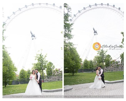 Wedding Portrait at London Eye, London